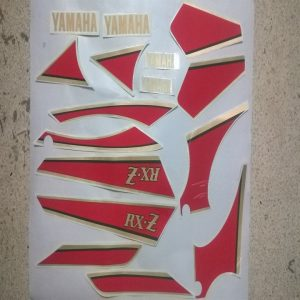 Genuine Sticker Kit for Yamaha RXZ Maroon/Wine Red or Black Bike 4 Speed